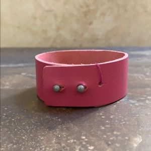 """Candy Did It! Jewelry - NWT Pink """"Strength"""" Adjustable Cuff Bracelet"""